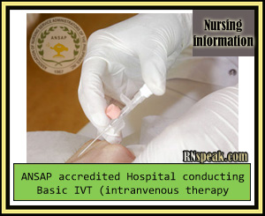 RN Speak ANSAP accredited Hospital conducting Basic IVT intranvenous therapy training ANSAP accredited Hospital conducting Basic IVT (intranvenous therapy )training