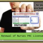Renewal of Nurses PRC License
