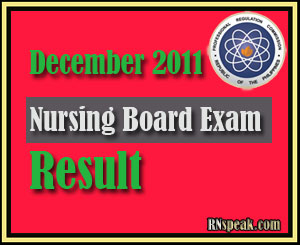 December 2011 Nursing Board Exam Result