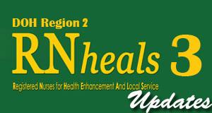 RN Heals 3 DOH-CHD Region 2 - Cagayan Valley