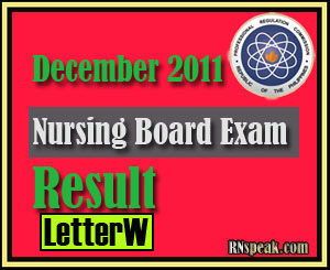 Letter W December 2011 Nursing Board Exam