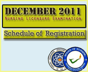 December 2011 Schedule of Registration NLE