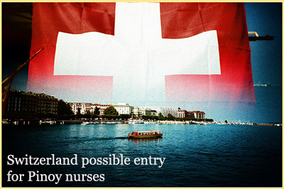 Switzerland Flag Switzerland possible entry for Pinoy nurses