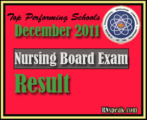 Top performing schools of July 2011 Nursing Board Exam