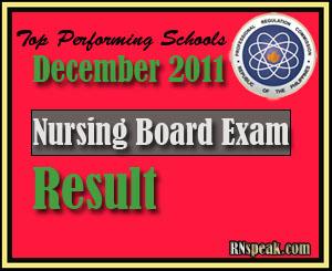 Top performing schools of July 2011 Nursing Board Exam