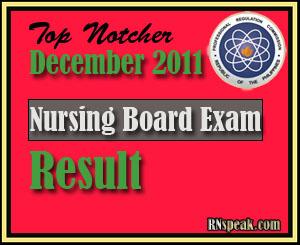 Topnotcher of December 2011 Nursing Board Exam