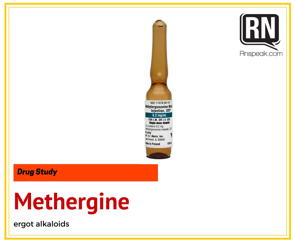 Methergine (Maternal) Drug Study