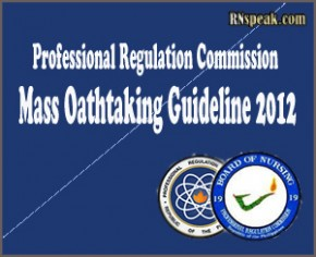 PRC Mass Oathtaking Guideline 2012