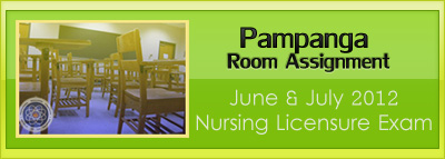 Pampanga room assignment June and July 2012 NLE