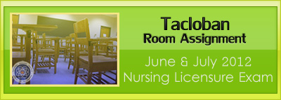 Tacloban room assignment June and July 2012 NLE