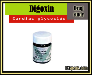 Digoxin drug bottle Digoxin Drug Study