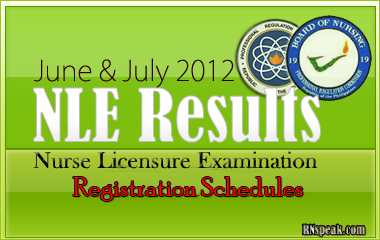 June-July-2012-NLE-Registration Schedules