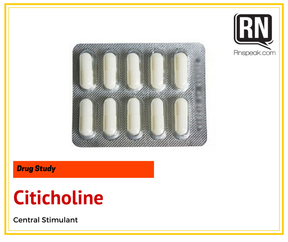 Citicoline Drug Study