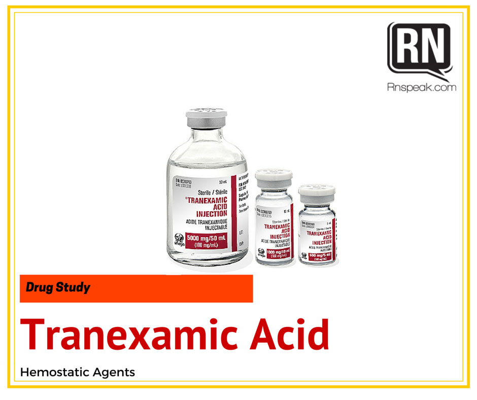 Drug Study Tranexamic Acid