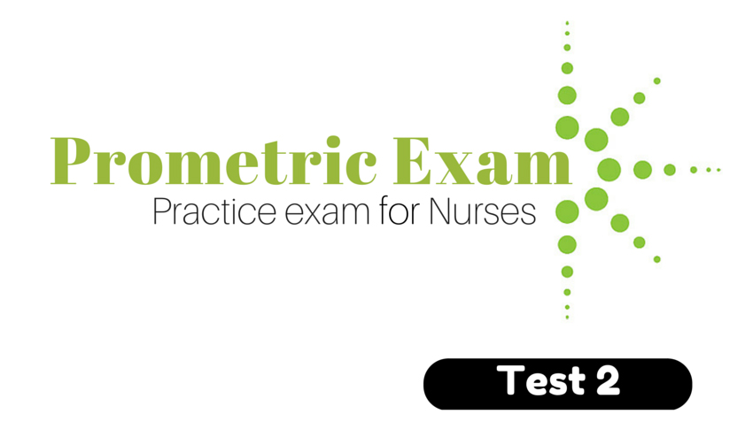 Prometric Exam – Practice Test for Nurses Test 2