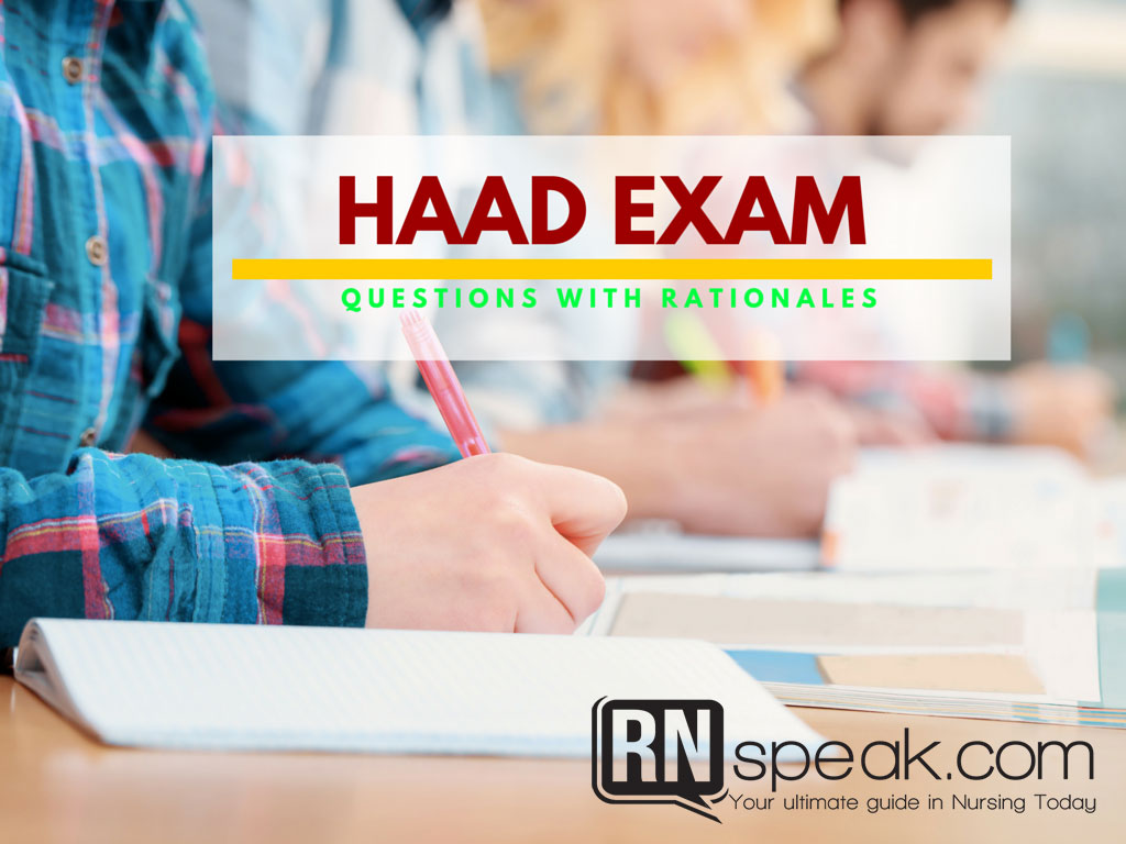 HAAD Exam Questions - Practice Test with Rationale
