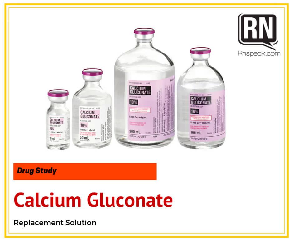 Calcium Gluconate Drug Study