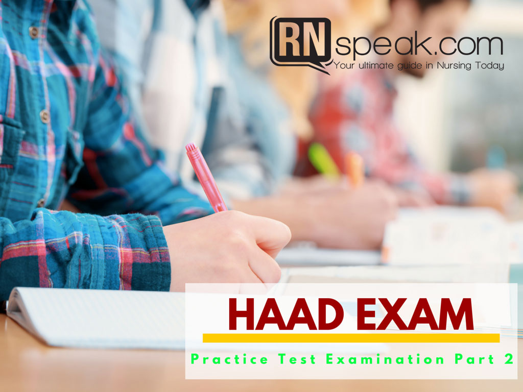 HAAD Practice Test Examination Part 2