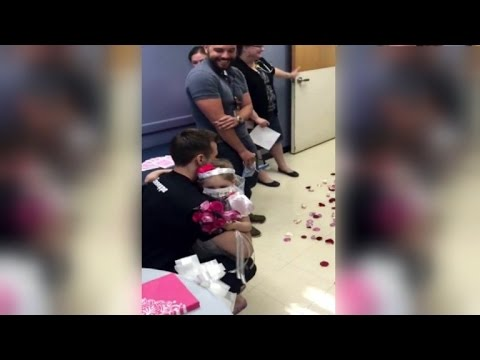 A 4 year old Cancer Patient (Leukemia) Marries her Cherished Nurse