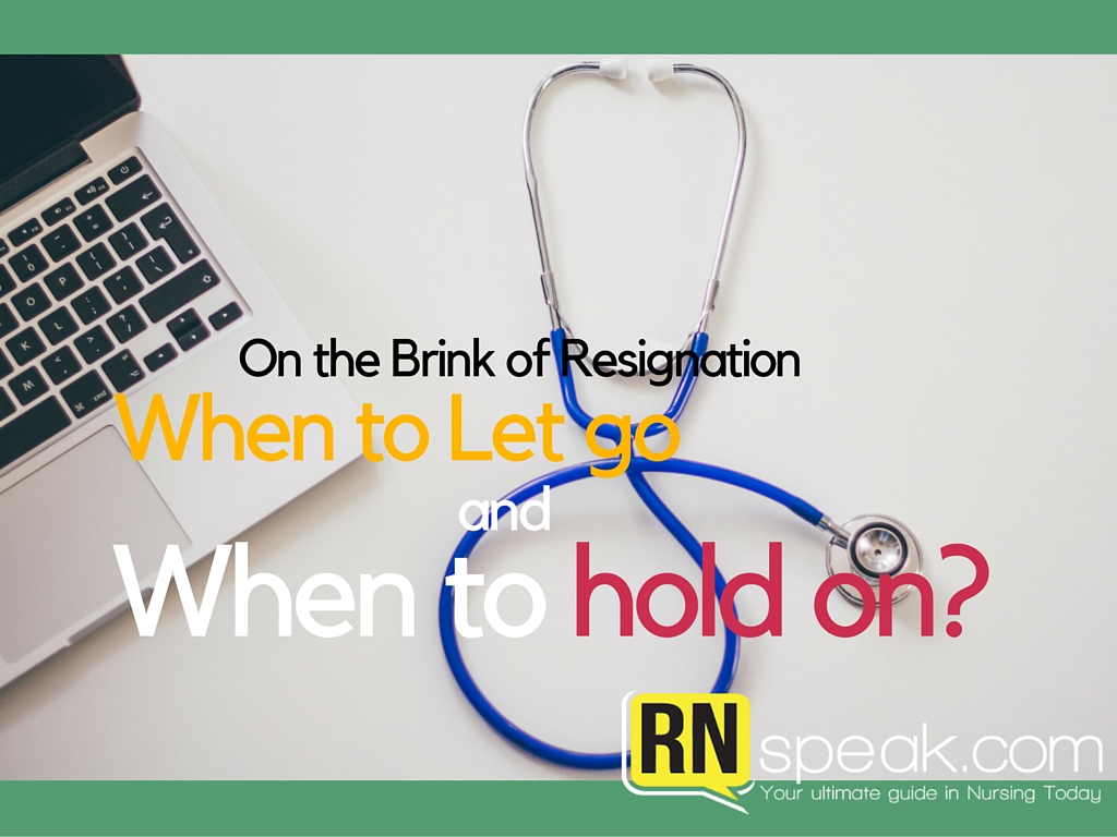 nurse resignation