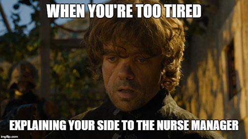 throne explain nurse side
