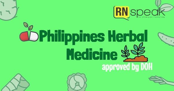 10 herbal medicines approved by doh