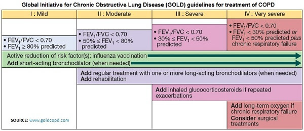 copd gold drug therapy