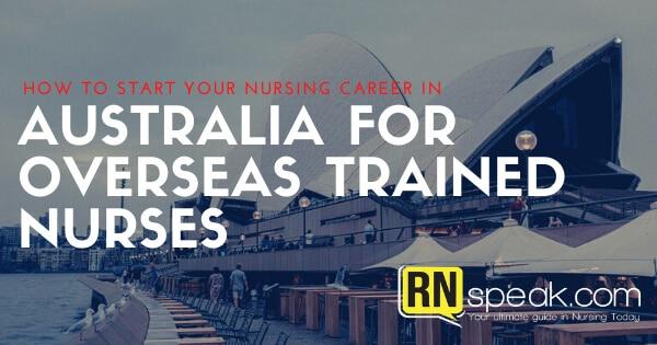 nursing career in australia