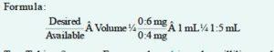 drug formula calculation