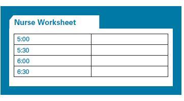 nurse working sheet
