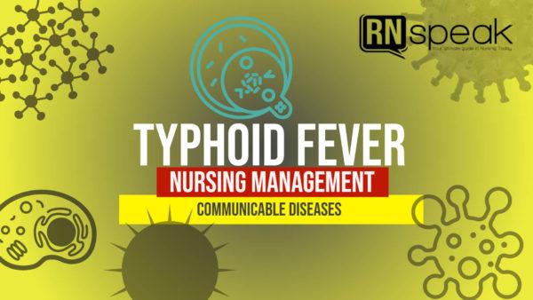 typhoid fever nursing management