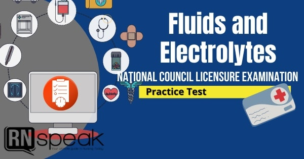 fluids and electrolytes nclex questions
