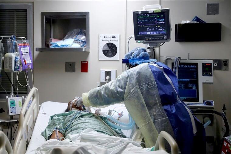 covid nurse in icu