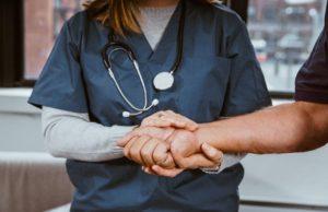 nurse help patient