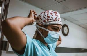 male nurse wearing mask